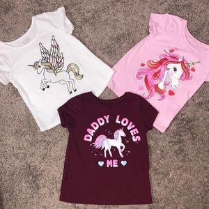 4T Unicorn 🦄 Toddler Top Bundle 🦄💗